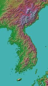 Terrain Map Korean Terrain U2022 Mapsof Net
