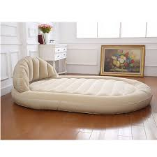 Blow Up Furniture by Beige Daybed Portable Blow Up Inflatable Air Lounge Cushion Sofa