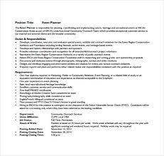 event coordinator resumes event planner resumes grassmtnusa