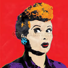 love lucy imitation andy warhol pop art red canvas wall painting