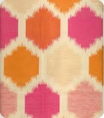 Pink And Orange Curtains Mercury P6323 Orange Pink Fabrics And Honeycomb Pattern