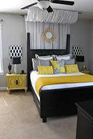 stunning grey and yellow bedroom decor for home design ideas with