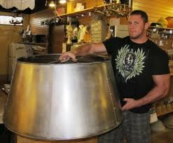 large drum metal lamp shade gothic bands u0026 balls to be brass plated