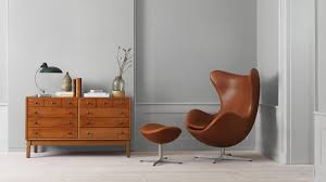ægget loungestol fuldpolstret læder