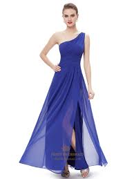 royal blue chiffon bridesmaid dresses royal blue chiffon one shoulder bridesmaid dresses with side split