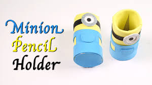 kids art and craft minion pencil holder how to make a minion