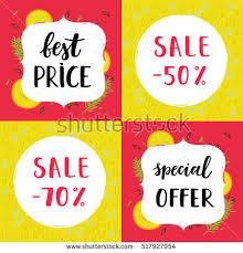 set sale cards vector illustration sale offer stock vector