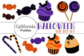 halloween candy clip art set illustrations creative market