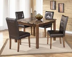 dining room black leather chairs by dinette sets plus area rug