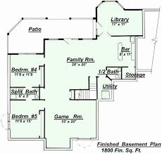 walkout basement plans 4 bedroom ranch house plans with walkout basement fresh house