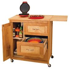 catskill craftsmen natural kitchen cart with butcher block top natural kitchen cart with butcher block top