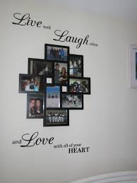 easy and cheap diy collage picture frame from with wall sticker easy and cheap diy collage picture frame from with wall sticker saying only about