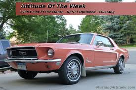 Pink And Black Mustang 1968 Color Of The Month