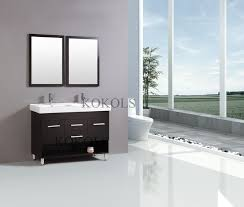 Glass Top Vanities Bathrooms Inch Modern Vanity Bathroom Furniture Double Sink Cabinet Glass Top