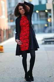 women u0027s black leather coat red lace sheath dress black fringe