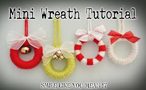 smile like you it ornament 1 mini wreath tutorial