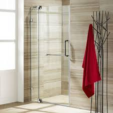 Discount Shower Doors Free Shipping Vigo 42 Inch Clear Glass Frameless Shower Door With Brushed Nickel