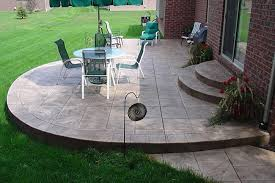 Concrete Patio Design Pictures Sted Concrete Patios Here S A Simple Rounded Sted Con