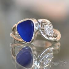 glass wedding rings 31 best made by meg sea glass engagement rings images on