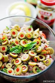 pasta slad tuna pasta salad with pimiento stuffed olives recipe diethood