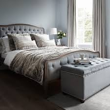 King Size Beds Chantal Bed Super King Size Grey Linen Brissi