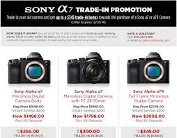 sony a7 black friday new sony a7 series trade in program launched