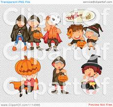 kids halloween background clipart kids in halloween trick or treat costumes royalty free