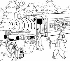 christmas thomas the train coloring pages free christmas