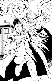 doctor who coloring page coloring pages pinterest deviantart