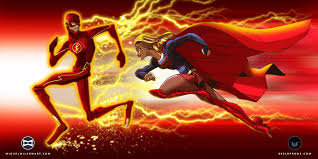 the flash fan art supergirl x the flash by 800poundproductions on deviantart