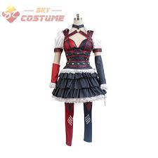 Asylum Halloween Costumes Aliexpress Buy Batman Costume Arkham Asylum Harley Quinn