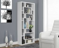 amazon com monarch specialties white hollow core bookcase 72