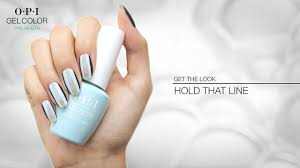 opi gelcolor nail art hold that line youtube