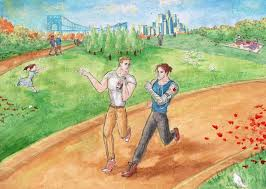 it u0027s a sunny day bucky barnes and steve rogers by chrisanyway on