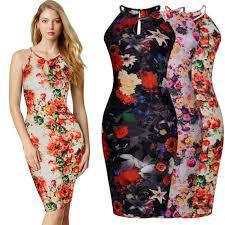 free shipping womens floral print hawaiian summer dress holiday