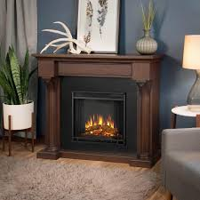real flame verona 48 inch electric fireplace with mantel