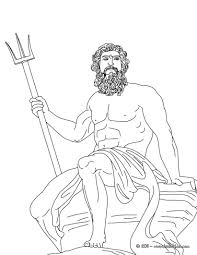 poseidon the greek god of the sea coloring pages hellokids com