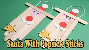diy christmas ornaments how to make santa claus using popsicle