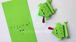 printable origami frogs kids craft youtube