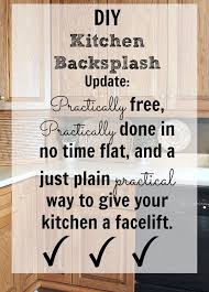 diy kitchen backsplash diy kitchen backsplash it doesn t get any easier than this the