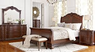 King Sleigh Bed Cortinella Cherry 5 Pc King Sleigh Bedroom Bedroom Sets Wood