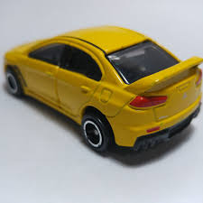 lego mitsubishi evo tomica yellow mitsubishi lancer evolution loose toyspree