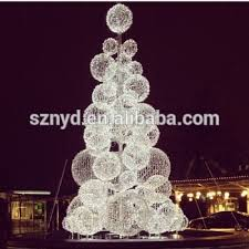 Lighted Christmas Tree Outdoor Decorations by Giant Led Christmas Ball Tree For Outdoor Decoration Beautiful Led