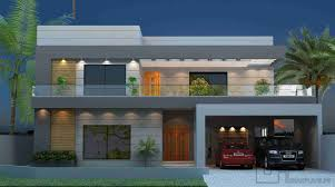 Front Elevation For House Front Elevation And Floor Design Of House 57x90 Gharplans Pk