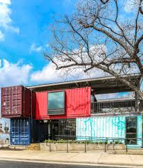 shipping container bar austin texas adaptainer