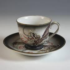 set of six betson u0027s dragonware moriage teacups and saucers tea