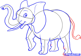 how to draw an easy elephant step by step safari animals