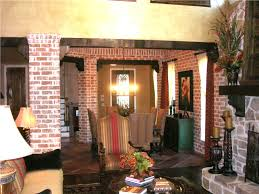 interior living packer brick dining room columns 06