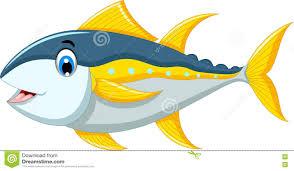 cute tuna fish cartoon stock illustration image 73476273