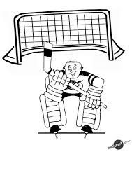 free online hockey goalie colouring page clip art library